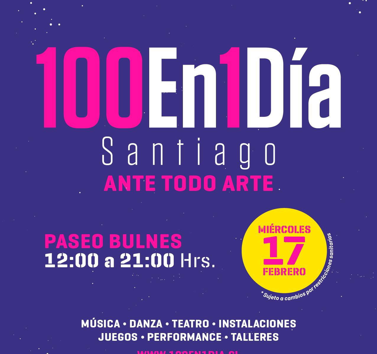 Festival de Intervenciones Urbanas 100 en 1 día Santiago