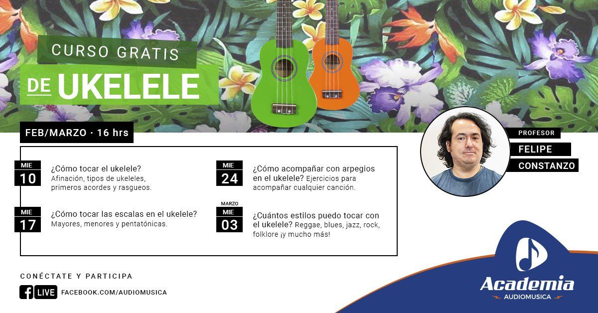 Curso gratis de Ukelele - online
